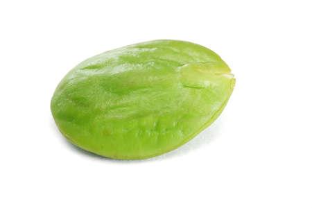 the stinking: Tropical stinking edible bean on white background (Parkia Speciosa) Stock Photo