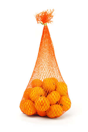 chinese new year food: Sack of mandarin oranges for Chinese New Year