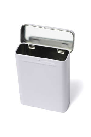 Rectangular Shape Metal Container Standing on White background Stock Photo - 12282482