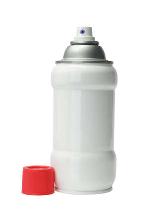 Aerosol Spray Can on White Background photo