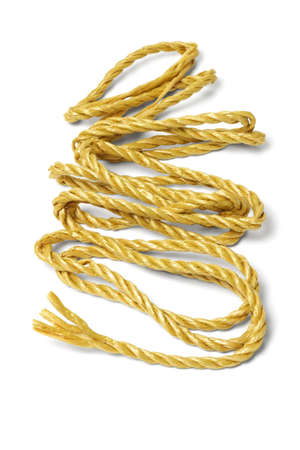 spreaded: Loose Rope Spreaded Out On White Background