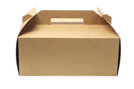 Takeaway Cake Box On White Background 免版税图像