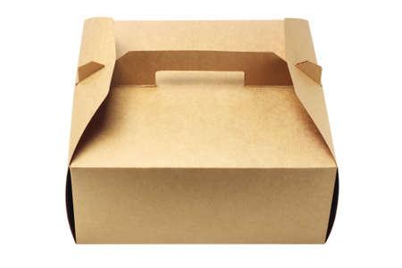 takeaway: Takeaway Cake Box On White Background Stock Photo