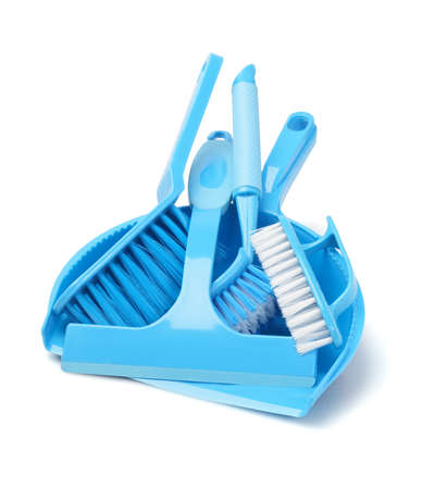 Household Cleaning Tools On White Background photo
