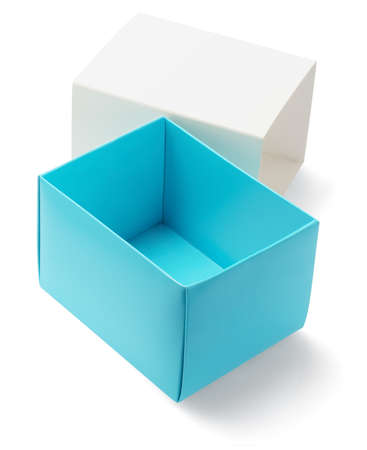 Open And Empty Gift Box On White Background photo