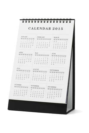 calendario escritorio: Calendario de escritorio 2015 en el fondo blanco