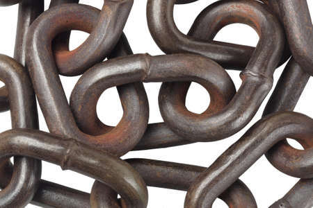 Rusty Metal Chain On Isolated Background photo
