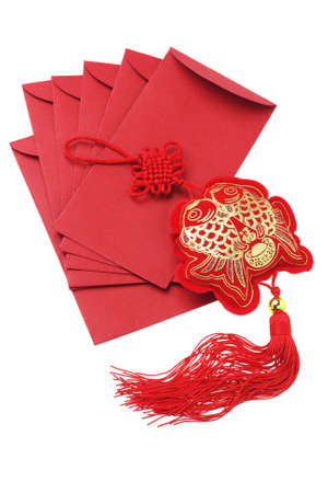packets: Chinese New Year Red Packets and Auspicious Fish Ornament