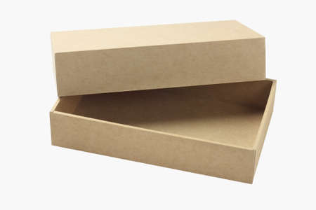 Open Empty Cardboard Box On White Background photo