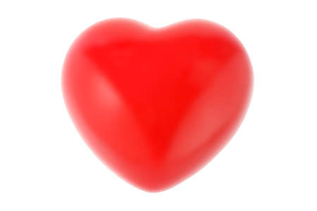 Valentine Love Heart On White Background photo