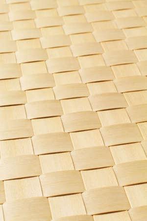 rattan mat: Woven Rattan Mat Texture Background Stock Photo