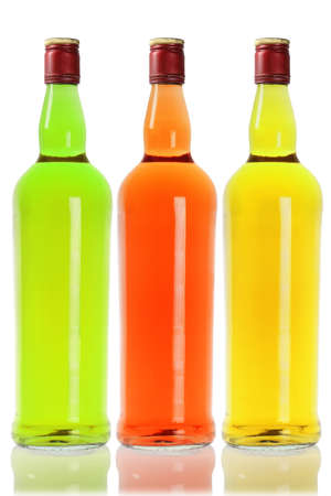 alcoholic beverage: Colourful Alcoholic Beverage on White Background