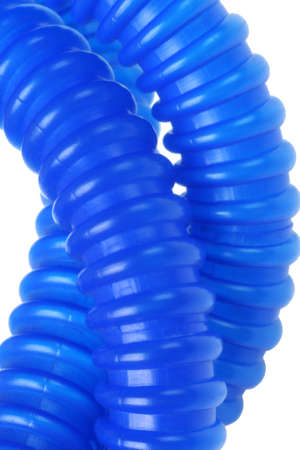 tubing: Close Up View of Flexible Plastic Tubing on White Background