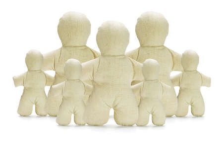 canvass: Collection of Dummy Figurines on White Background