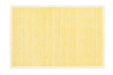 Bamboo Table Placemat on White Background Stock Photo