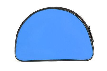 BlueTravelling Toiletries Bag on White Background