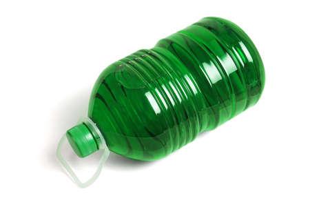 Bottle of Liquid Detergent lying on White Background 免版税图像