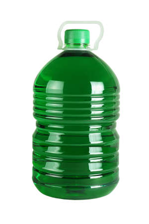 Bottle of Liquid Detergent on White Background
