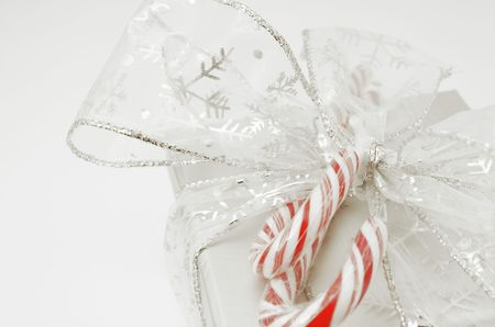 Christmas Gift tied with ribbon
