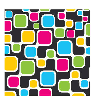 colorful square pattern background Stock Photo - 16774458