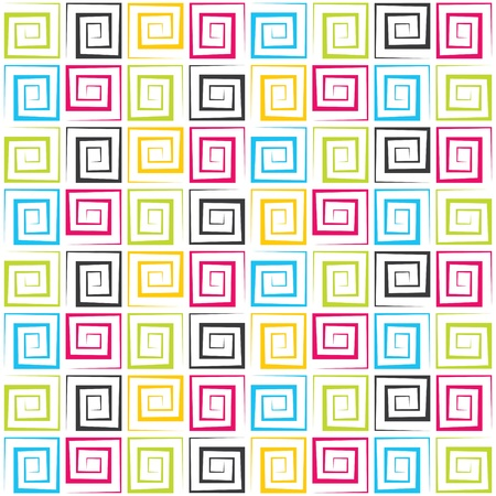 abstract colorful swirl square pattern Stock Photo - 16774465