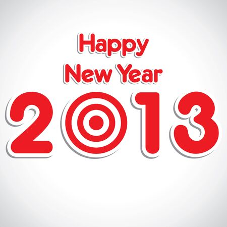 new year 2013 red stock vector Stock Vector - 16845615