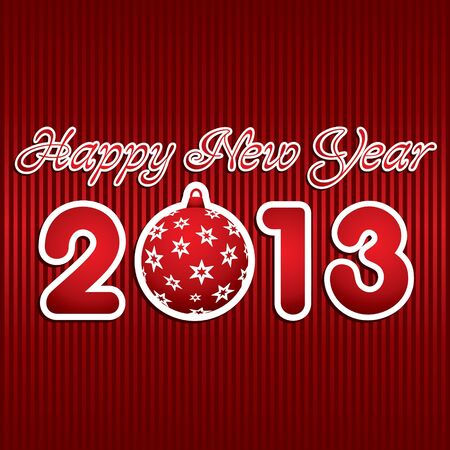new year 2013 design with christmas ball stock vector Stock Vector - 16845667