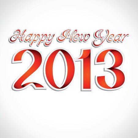 new year 2013 ribbon stock vector Stock Vector - 16845629