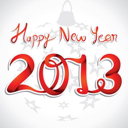 rojo happy new year 2013 vector stock