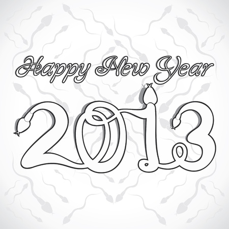 new year 2013 design with snake stock vector Vector