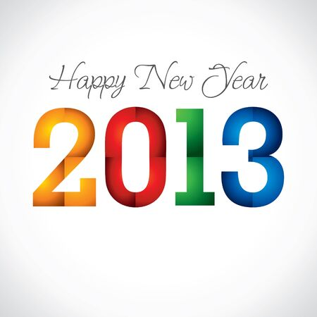 colorful happy new year 2013 stock vector Stock Vector - 16845676