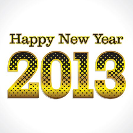 golden halftone new year 2013 vector Vector