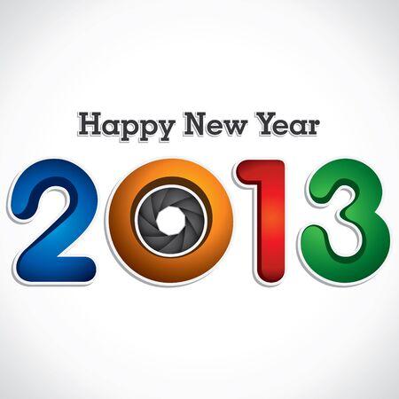 happy new year 2013  shutter stock vector Stock Vector - 16845588