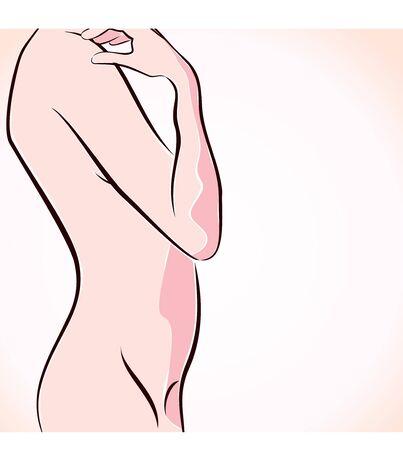 abstract naked women stock vector Illustration