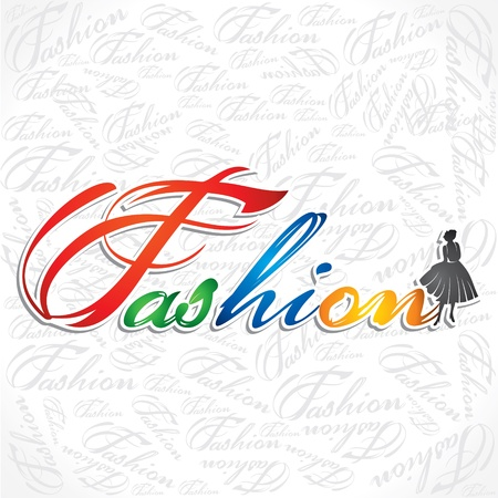 creative writing of fashion word Stock Vector - 16845699