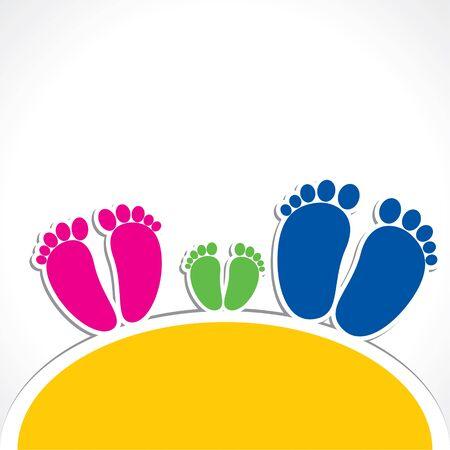 color foot print design stock vector Stock Vector - 16845554