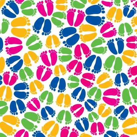 colorful foot random pattern background Vector
