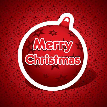 merry christmas red ball stock vector Stock Vector - 16845710