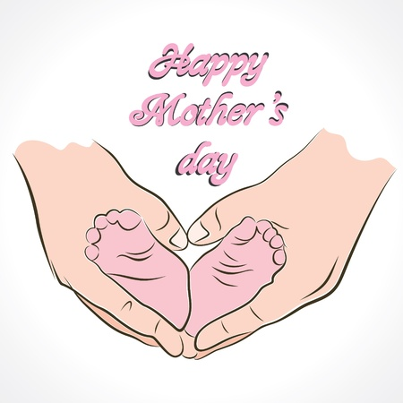 feeling happy: happy mother s day greeting background
