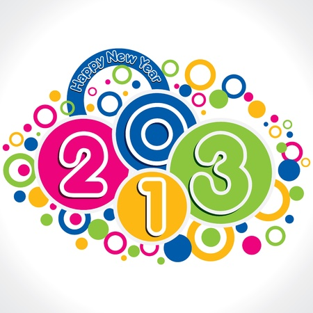 colorful new year 2013 vector Stock Vector - 16845623