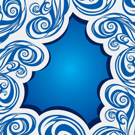 abstract swirl blue brush stroke background Stock Vector - 16845654