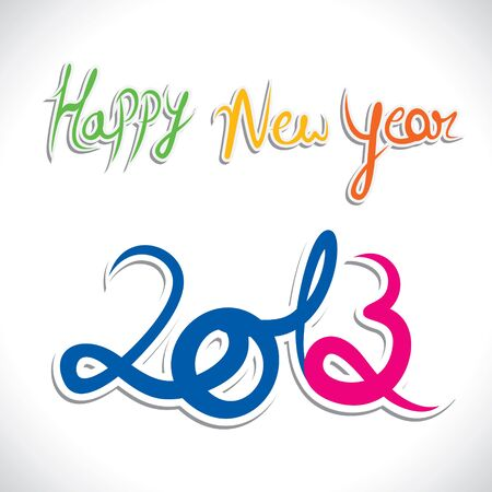 happy new year 2013 stock vector Stock Vector - 16845727