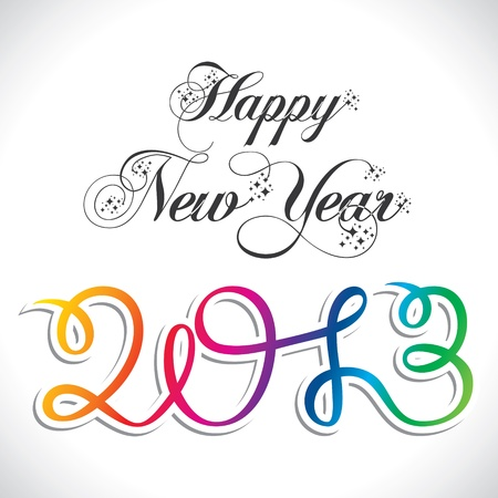 happy new year year 2013 in colorful style Stock Vector - 16845737