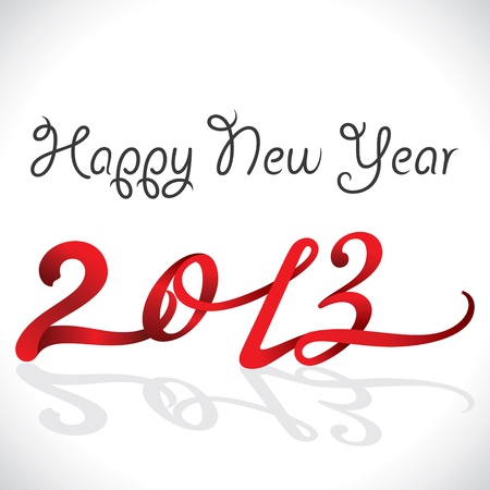 new year 2013 design with ribbon Stock Vector - 16845733