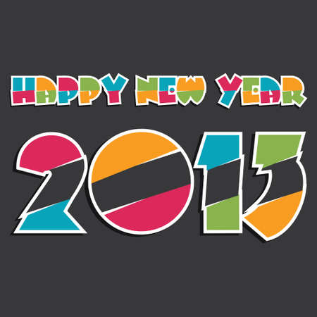 new year 2013 design stock vector Stock Vector - 16845711