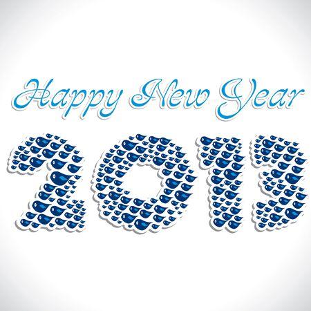 bird make new year 2013 Stock Vector - 16845800