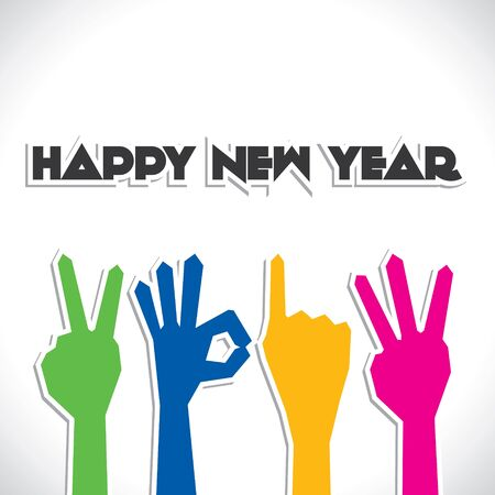 hand finger show new year 2013 Stock Vector - 16845744