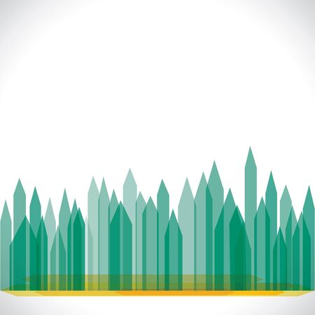 crowed: green eco buliding city stock vector