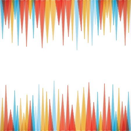 abstract scherpe zig-zag border stijl achtergrond Stock Illustratie