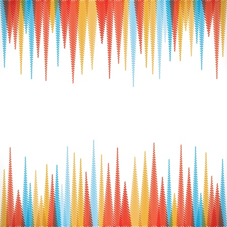 abstract sharp zig-zag  border style background Stock Vector - 16845839